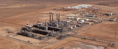 """Statoil's gas facility at Krechba handles processing from the southern portions of the In Salah oil field in Algeria. It also is known as a """"green"""" gas facility, capturing and storing carbon dioxide underground. The gas is sent in pipes and sold mostly to customers in Europe. PHOTO: Statoil"""