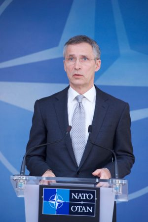 Before becoming secretary general of NATO, Jens Stoltenberg was a veteran politician in Norway who served three times as prime minister. He reportedly was first approached by publishing firm Gyldendal to write his autobiography in 2007, but says he didn't get serious about it until after leaving office and before becoming NATO boss. PHOTO: NATO
