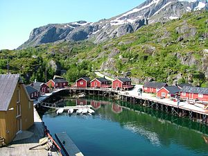Access to the idyllic village of Nusfjord on Lofoten may be restricted by a new fence, but protests are pouring in. PHOTO: Wikipedia Commons