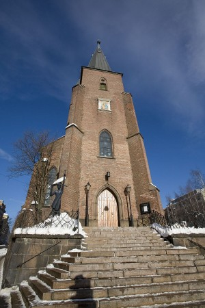 Catholics are still streaming to St Olav's Church in Oslo, despite all the controversy over its state funding based on membership. Masses are held in a wide variety of languages, to accommodate Catholics who have moved to Norway from many different countries.. PHOTO: Wikipedia
