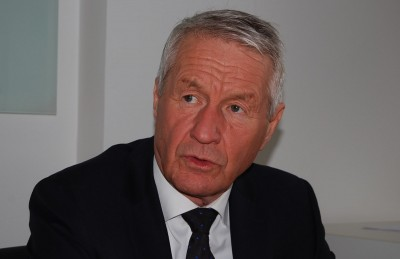 Thorbjørn Jagland is a former Norwegian prime minister who's now secretary general of the Council of Europe. He's stressing the need for European solidarity in dealing with the refugee crisis. PHOTO: newsinenglish.no/Nina Berglund