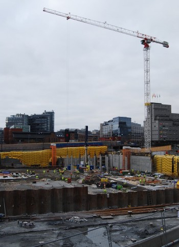Major public sector projects, like construction of the new National Museum in Oslo and infrastructure improvements, can provide jobs for highly qualified workers laid off in the oil business. PHOTO: newsinenglish.no