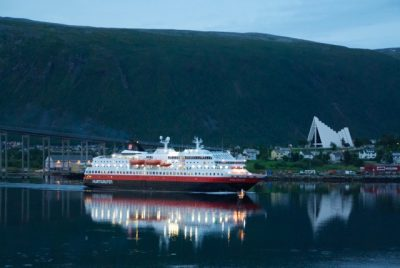 The combination of cruises that also call at popular destinations like here at Tromsø also attracts passengers, who can see plenty of spectacular scenery along the way. PHOTO: newsinenglish.no