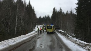 A motorist was killed after colliding with a tank during Cold Response military exercises on Monday. PHOTO: Forsvaret