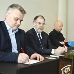 Eggum of Fellesforbundet, state mediator Dalseide, Norsk Industri's Stein Lier-Hansen