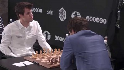 Norway's Magnus Carlsen beat Sergey Karjakin at the World Blitz Chess Championship last year, but has lost to him at as well, not least on home turf at Norway Chess in Stavanger. PHOTO: YouTube