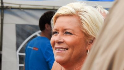 Siv Jensen says she's found her own style as leader of the Progress Party for the past 10 years, and finance minister for nearly three. PHOTO: Fremskrittspartiet