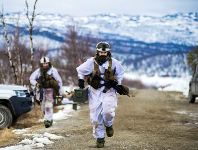 Military exercises will continue in Northern Norway, like here in Finnmark, but reorganization plans call for the controversial shutdown of several bases and operations. PHOTO: Forsvaret/Frederik Ringnes
