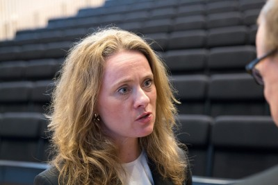 Anniken Hauglie of the Conservative Party, who took over as Norway's Labour Minister late last year, won applause for helping to avert a major strike at a time of economic slump. PHOTO: Arbeids- og sosialdepartementet/Jan Richard Kjelstrup