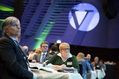 The Liberals' leadership trio at the party's annual meeting last weekend: Ola Elvestuen (left), Terje Breivik and Trine Skei Grande. PHOTO: Venstre/Jo Straube