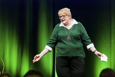 """Liberal Party leader Trine Skei Grande continues to demand a """"greener"""" budget with, for example, higher fuel taxes. Lots of political prestige and voter support is at stake. PHOTO: Venstre/Jo Staube"""