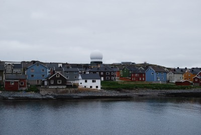 The large radar system that's long been part of Vardøs skyline can be seen from all over the small Arctic city. PHOTO: newsinenglish.no/Nina Berglund