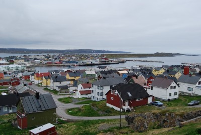 The view over Vardø, from the hillside not far from where the radar system is located. PHOTO: newsinenglish.no/Nina Berglund