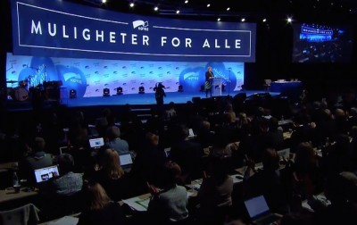 The Conservatives' annual party meeting this weekend has attracted more than 1,000 delegates, a new record. Prime Minister Erna Solberg stressed the party's motto, Muligheter for alle (Opportunities for everyone) in her opening speech Friday by stressing the need for integration of immigrants, asylum seekers and newcomers in Norway. PHOTO: Høyre