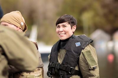 Defense Minister Ine Eriksen Søreide won't comment on the proposed defense cuts until she presents them to Parliament, probably in June. PHOTO: Forsvaret/Petter Brenni Gulbrandsen