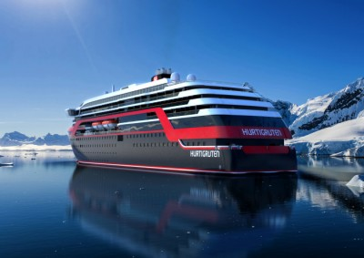 The new Hurtigruten vessels will be specially built for Arctic waters. ILLUSTRATION: Hurtigruten/Rolls-Royce