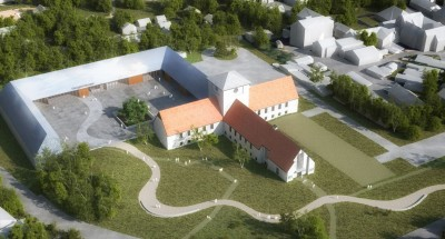 Trondheim-based Arkitekturfabrikken won third place for its design for expansion of the Viking Ship Museum in Oslo. ILLUSTRATION: Statsbygg/Arkitekturfabrikken/Visco