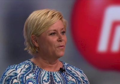 """Finance Minister Siv Jensen presented at revised national budget on Wednesday that allow the government to make changes in line with economic developments at mid-year. She described the budget as """"expansive"""" and aimed at creating and preserving jobs. PHOTO: Fremskrittspartiet"""