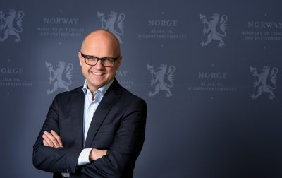 Vidar Helgesen, who took over as Norway's climate-and environment minister late last year, sees no conflict between Norway's stated climate goals and its decision to open up new areas of the Arctic for more oil and gas activity. PHOTO: Klima- og miljødepartementet