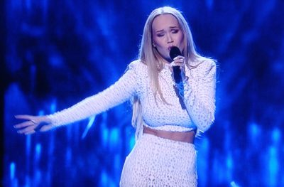 """Agnete Johnsen said that even though she didn't win on Thursday, being on stage in the Eurovision semi-final was """"therapy for me."""" PHOTO: NRK screen grab/newsinenglish.no"""