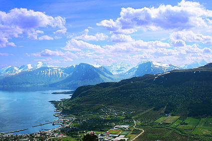 The small community of Hareid in the county of Møre og Romsdal was among those where voters firmly rejected a merger with their neighbouring municipalities. PHOTO: Wikipedia