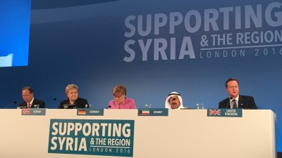 Solberg's government also organized a donors' conference for Syria earlier this year that helped mobilize more humanitarian aid. Critics point out, however, that there's no clear, long-term plan for the huge amounts of money sent by Norway already, which has amounted to NOK 3.5 billion since 2011. PHOTO: Statsministerens kontor.