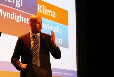 Norway's Oil & Energy Minister Tord Lien doesn't want to rush into carbon capture and storage projects aimed at halting climate change. PHOTO: Olje- og energi departementet