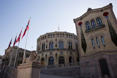 """All power in this building"" is an important refrain about Norway's Parliament (Stortinget). Now there's more debate over whether power is shifting to the EU in Brussels, even though Norway is not a member. The Parliament building itself has been celebrating its 150th anniversary this year. PHOTO: Stortinget"