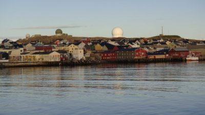 Large and highly sophisticated radar systems loom over Norway's northern city of Vardø, and continue to raise some civilian concern. PHOTO: newsinenglish.no/Nina Berglund