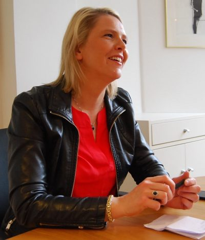 "Norway's Immigration Minister Sylvi Listhaug was smiling, relaxed and satisfied after a ""stormy"" six months in office. PHOTO: newsinenglish.no/Nina Berglund"