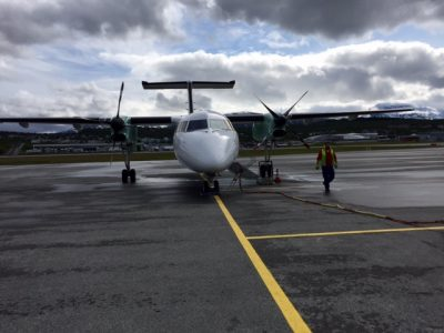 Airports like here at Tromsø are facing trouble this week because of a fuel suppliers' strike, heavy summer traffic and a reduced staffing of a key air traffic control center. PHOTO: newsinenglish.no