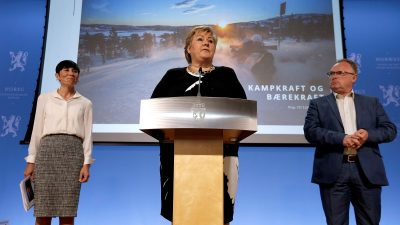 "Prime Minister Erna Solberg claimed the government's new long-term plan for the military would ""renew and strengthen"" Norway's defense. PHOTO: Statsministerens kontor"