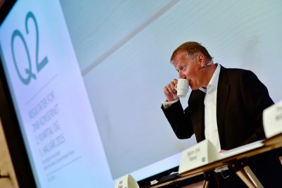 DNB Chief Executive Rune Bjerke could report much better second-quarter results last year than he could this year. PHOTO: DNB/Stig Fiksdal