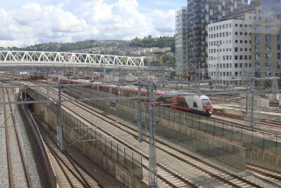 This area leading into Oslo's Central Station (Oslo S) will be quiet indeed this week, shut down because of maintenance and contstruction work on a new train line into Oslo called Follobanen. PHOTO: newsinenglish.no