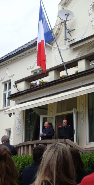 French Ambassador Jean-Francois Dobelle welcomed hundreds of guests to his residence in Oslo on Thursday, to share in celebrations of France's national day on July 14. Just hours later, his country was struck yet again by an attack on other celebrants in Nice, killing at least 84 and injuring many more. Dobelle arrived in Oslo in March. PHOTO: newsinenglish.no