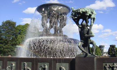 The statues in Oslo's Frogner Park may not be getting as much attention as Pokémon figures summer. PHOTO: newsinenglish.no