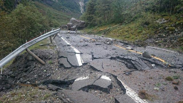 E16 Nærøydalen, rockslide