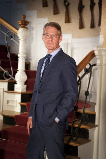 "Finn Jebsen, chairman of the board of Kongsberg Gruppen, said the company was ""satisfied"" that it's not being indicted on corruption charges. Its former sales director for Eastern Europe, however, has been indicted on charges of fraud, money laundering and tax evasion. PHOTO: Kongsberg Gruppen"