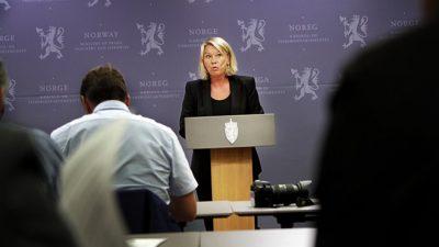 Monical Mæland, defending her choice of Thorhild Widvey as the new board leader of Statkraft. PHOTO: NFD
