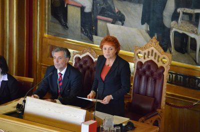 Marit Nybakk, a veteran member of the Norwegian Parliament, has served longer than any other woman. She's seen a lot of change in the past 30 years. PHOTO: Stortinget
