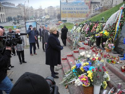 Norwegian Prime Minister Erna Solberg visited Ukraine in November 2014. On Tuesday, Ukraine's president returned the call, marking the first visit ever of a Ukrainian head of state to Norway. PHOTO: Statsministerens kontor