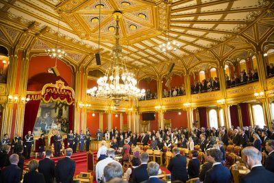 The opening of Parliament is a festive occasion, in an historic room in the heart of Oslo. PHOTO: Stortinget