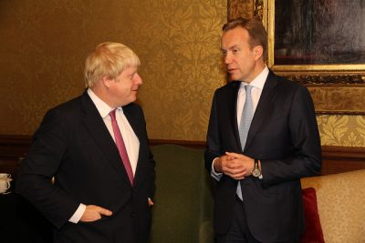 Brende has had a rough year, including the shock of Britain's vote to leave the EU. This photo was taken when Børge later visited his new British counterpart, Boris Johnson, in London. PHOTO: Utenriksdepartementet