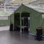 Indoor tents like these at UDI's asylum reception center in Råde, south of Oslo, will be the first stop for refugees arriving in Norway later this week who have been living in camps in Italy. PHOTO: UDI/Hero