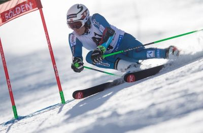 Henrik Kristoffersen in action during the season opener, when he was the best on the slalom team but only placed 8th. PHOTO: Norges Skiforbundet