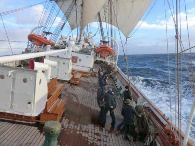 """We can now confirm that during the early hours of Sunday morning we had sailed a measured distance of 1556 nautical miles within a 124 hour period,"" wrote Captain MA Seidl from on board the sailing ship Statsraad Lehmkuhl on Monday. The Tall Ship is due to make a triumphant return to Bergen late next week. PHOTO: Statsraad Lehmkuhl"
