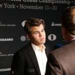 Magnus Carlsen is not always comfortable having to answer many questions, and was disappointed after another game ended in a draw at the World Chess Championships in New York. PHOTO: Ilya Ivanov/World Chess for Agon Limited