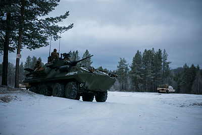 Norway's armoured battalion and the US Marine Corps' military exercises known as Rein 2 were themselves the target of surveillance by drones. PHOTO: Forsvaret/Øyvind Storvik Ingebrigtsen