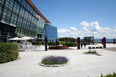Telenor has a scenic, sprawling headquarters complex on the Oslo Fjord. Inside the mood and outlook is less than bright. PHOTO: Telenor