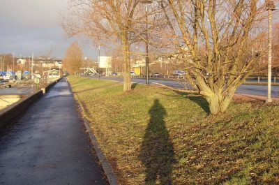 Shadows were long, even in the morning, because of the low-lying sun at this time of year in Oslo. There's no snow in the Norwegian capital, though, so dreams of a White Christmas have melted away. PHOTO: newsinenglish.no